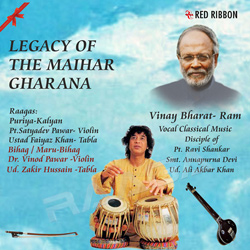 Listen to Raag Bihag - Supne Saman Laage Ratiya, Ab Aao Sajana songs from Legacy Of The Maihar Gharana (Tabla - Zakir Hussain)