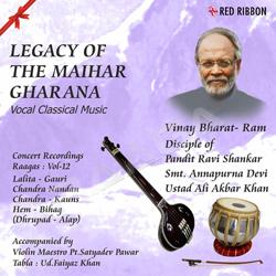 Listen to Raag Chandra Kauns - Ram Rahim Tero Hi Naam songs from Legacy Of The Maihar Gharana - Vol 12