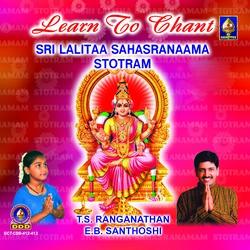 Sri Lalitaa Sahasranaama Stotram - Vol 1