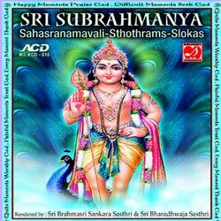 Sri Subrahmanya Sahasranamavali - Sthothrams - Slokas songs